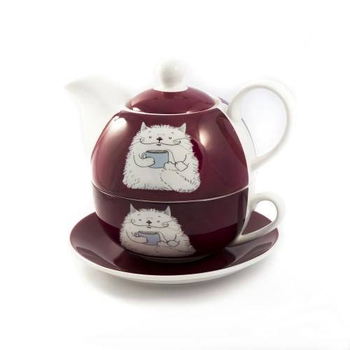Комплект от 3 части за чай - Cat