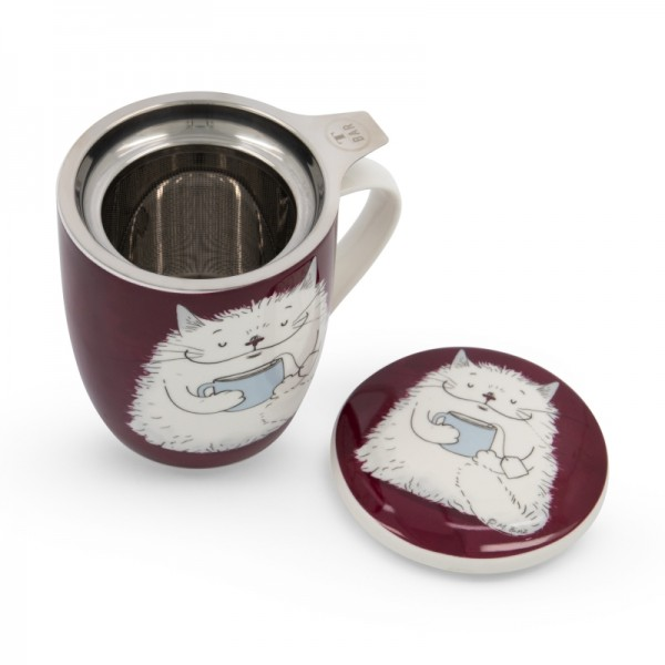 Чаша за чай с цедка Котка