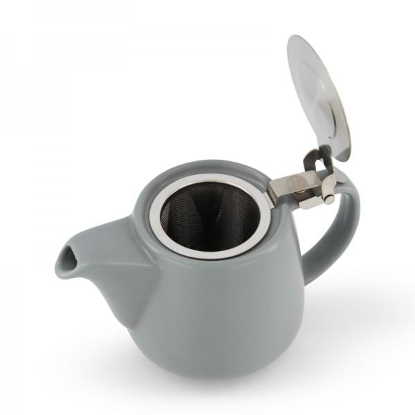 Порцеланов чайник с цедка сив