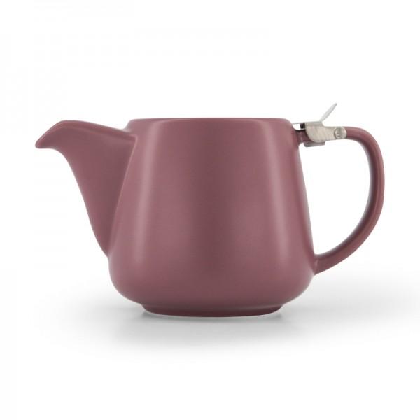 Порцеланов чайник с цедка червен