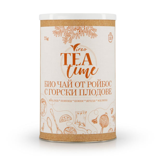 Био чай от ройбос с горски плодове Vireo