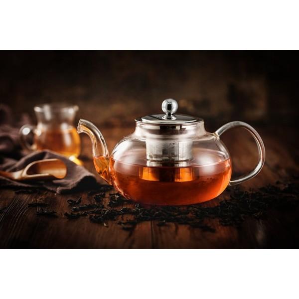 Стъклен чайник с цедка Vireo